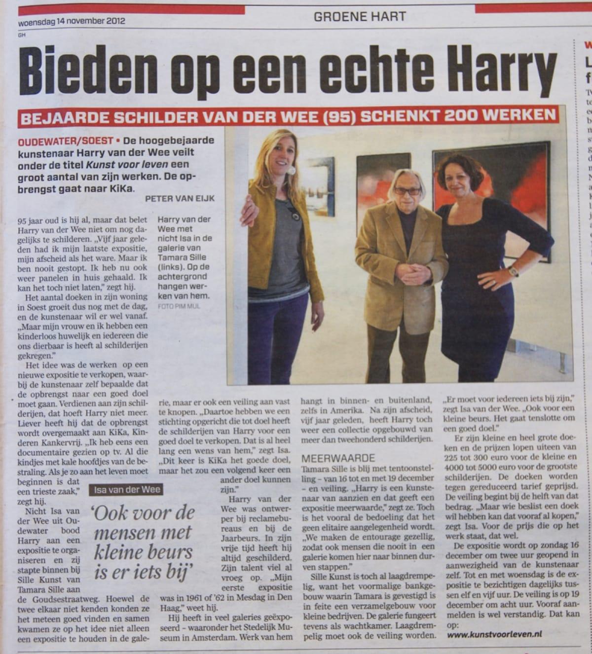 Sfeer Expositie en veiling bij Galerie Sille, € 15.000,- voor KiKa!
