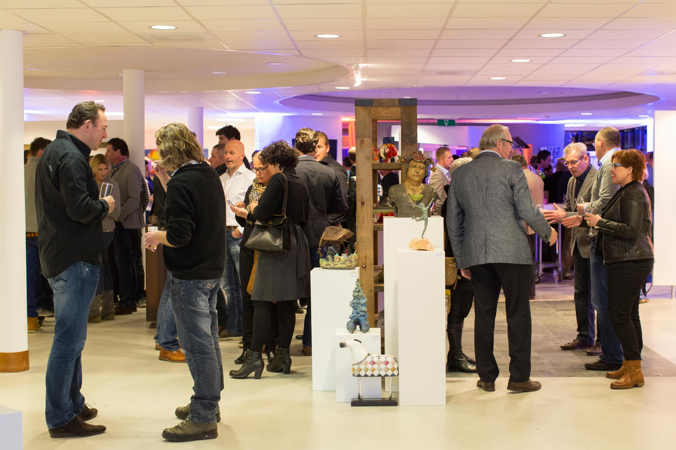 Sfeer Nieuwjaarsreceptie BVO Oudewater in de galerie