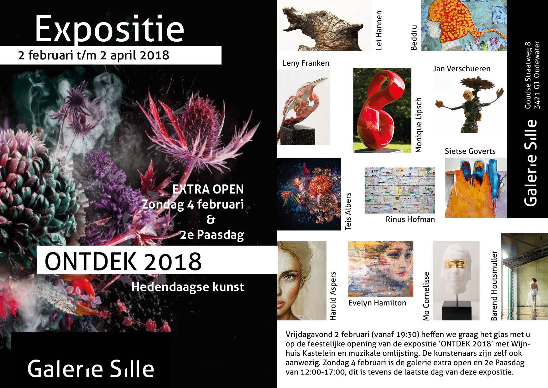 Sfeer Expositie 'ONTDEK' 2018 (vernissage 2 februari)