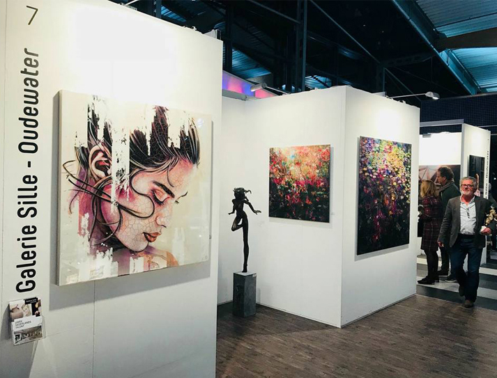 Sfeer Galerie Sille op de First Art Fair in Passenger Terminal (januari)