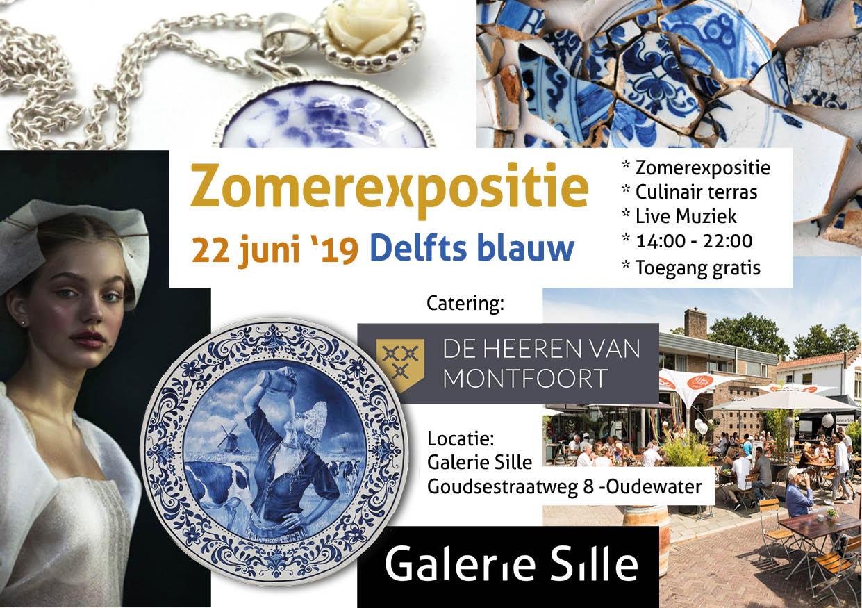 Sfeer Kunst & Culinair + Opening zomerexpositie thema Delfts blauw! 22 juni 2019
