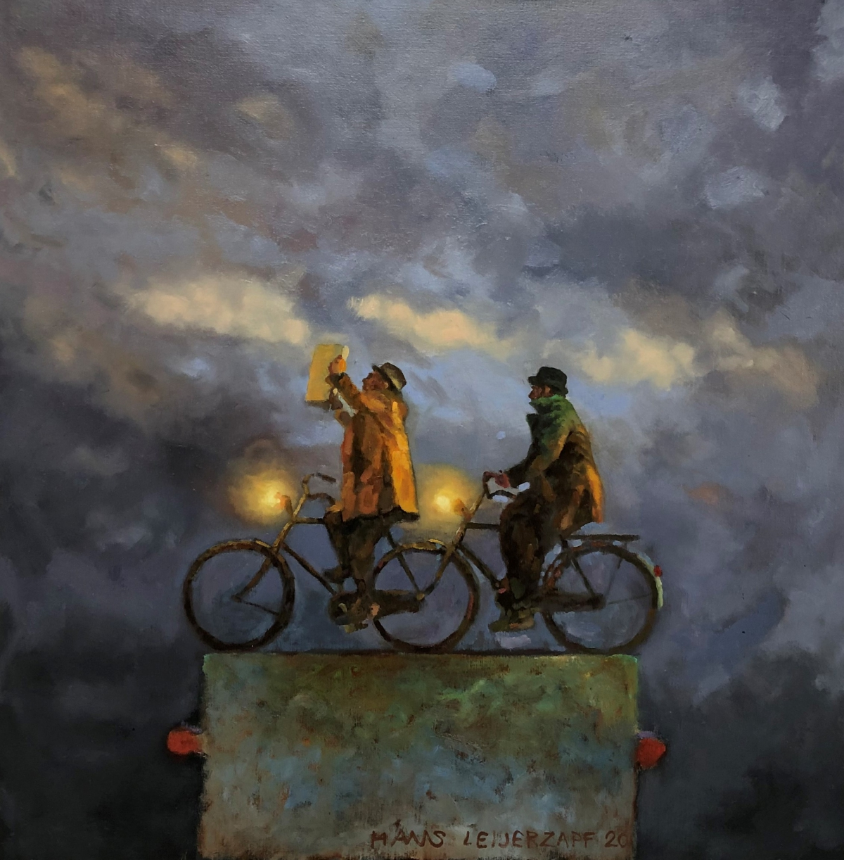 Kunst: Nu lukt het allemaal nog van kunstenaar Hans Leijerzapf