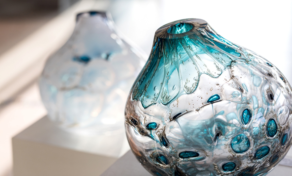 glaskunst vaas glasobject kunstenaar