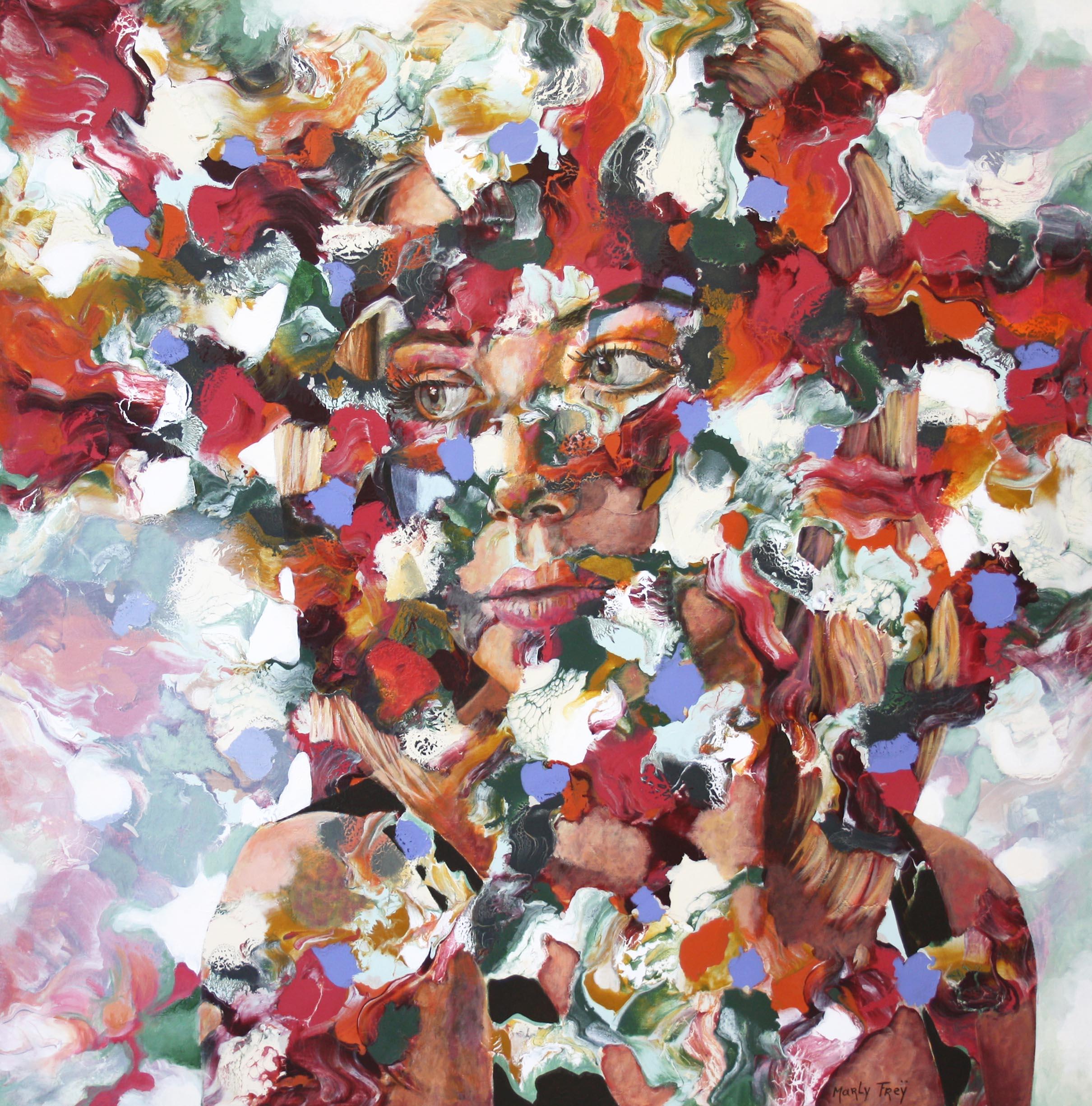 Kunst: A penny for your thoughts van kunstenaar Marly Freij(portretten)