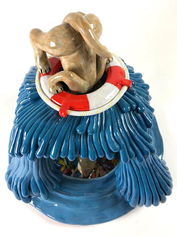 Kunst: Below sea level van kunstenaar Margarita van der Velden