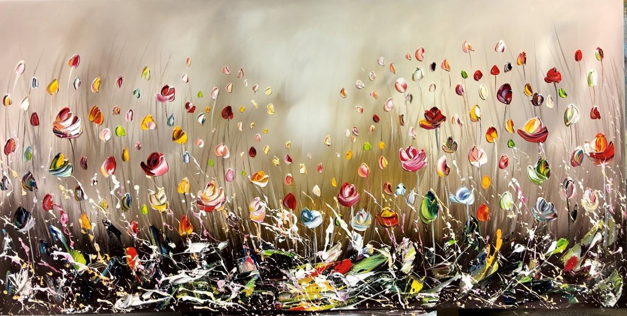 Kunst: Flowers III van kunstenaar Gena n Gena