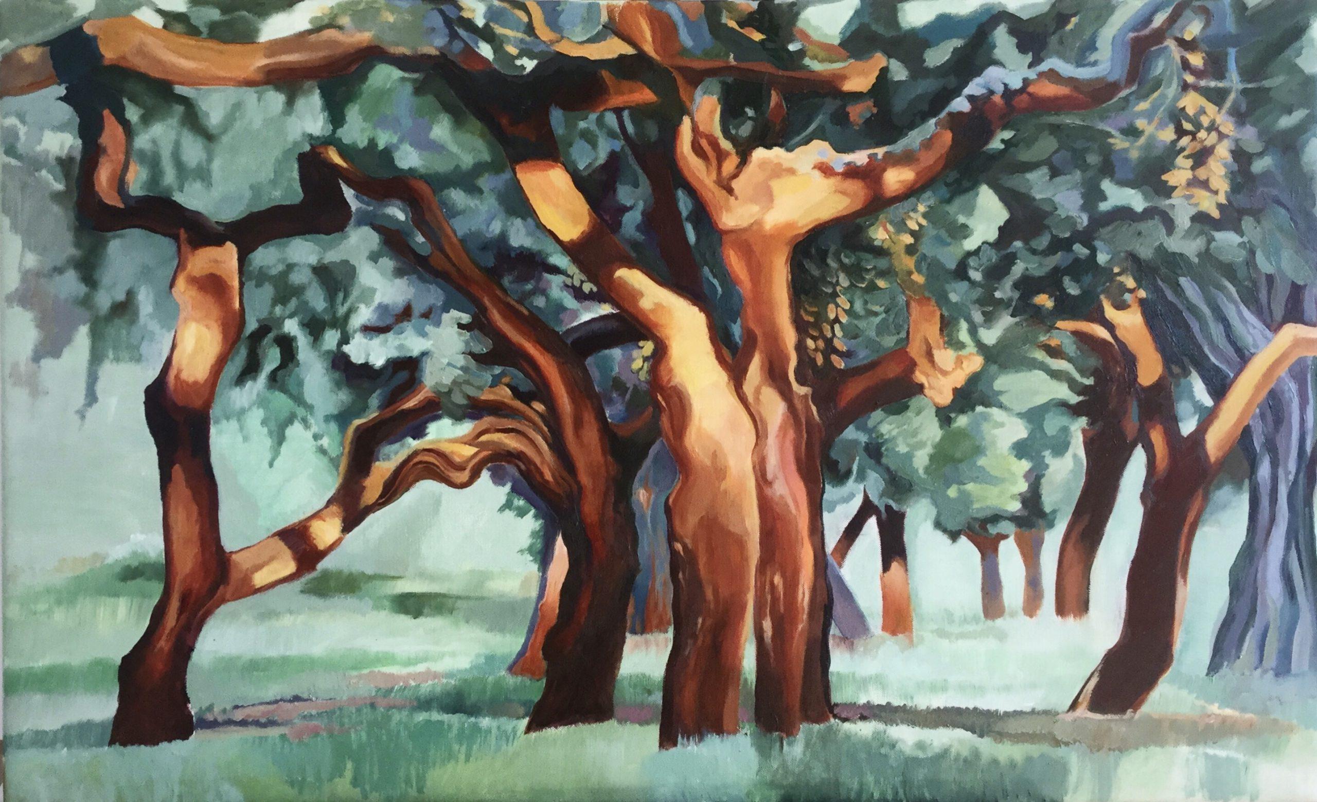 Kunst: Dance of trees van kunstenaar Sanneke S.I. Griepink