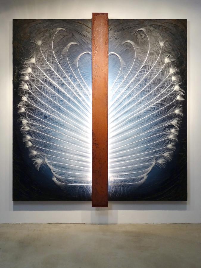 Kunst: IJzeren Engel van kunstenaar Geeske van de Molengraft