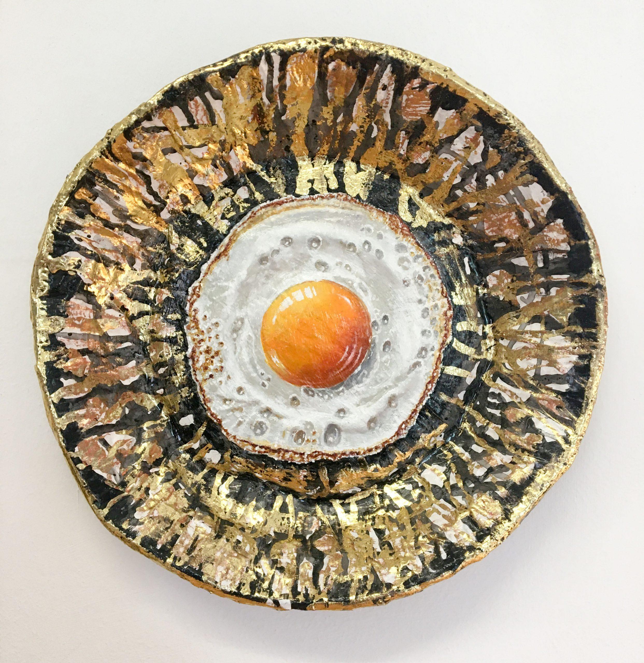 Kunst: Klein spiegelei 2 van kunstenaar Katinka Krijgsman