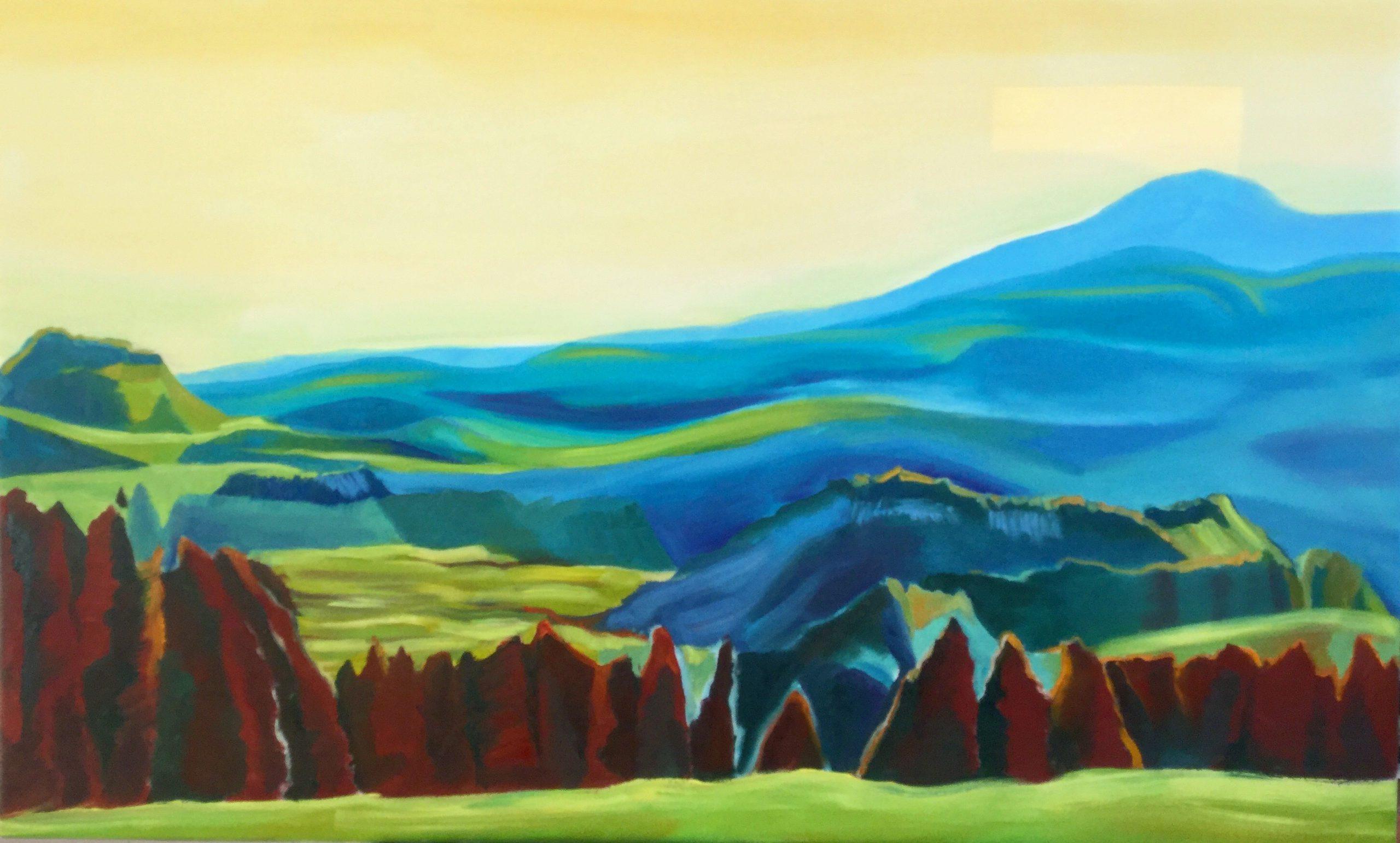 Kunst: Land of fire and light van kunstenaar Sanneke S.I. Griepink