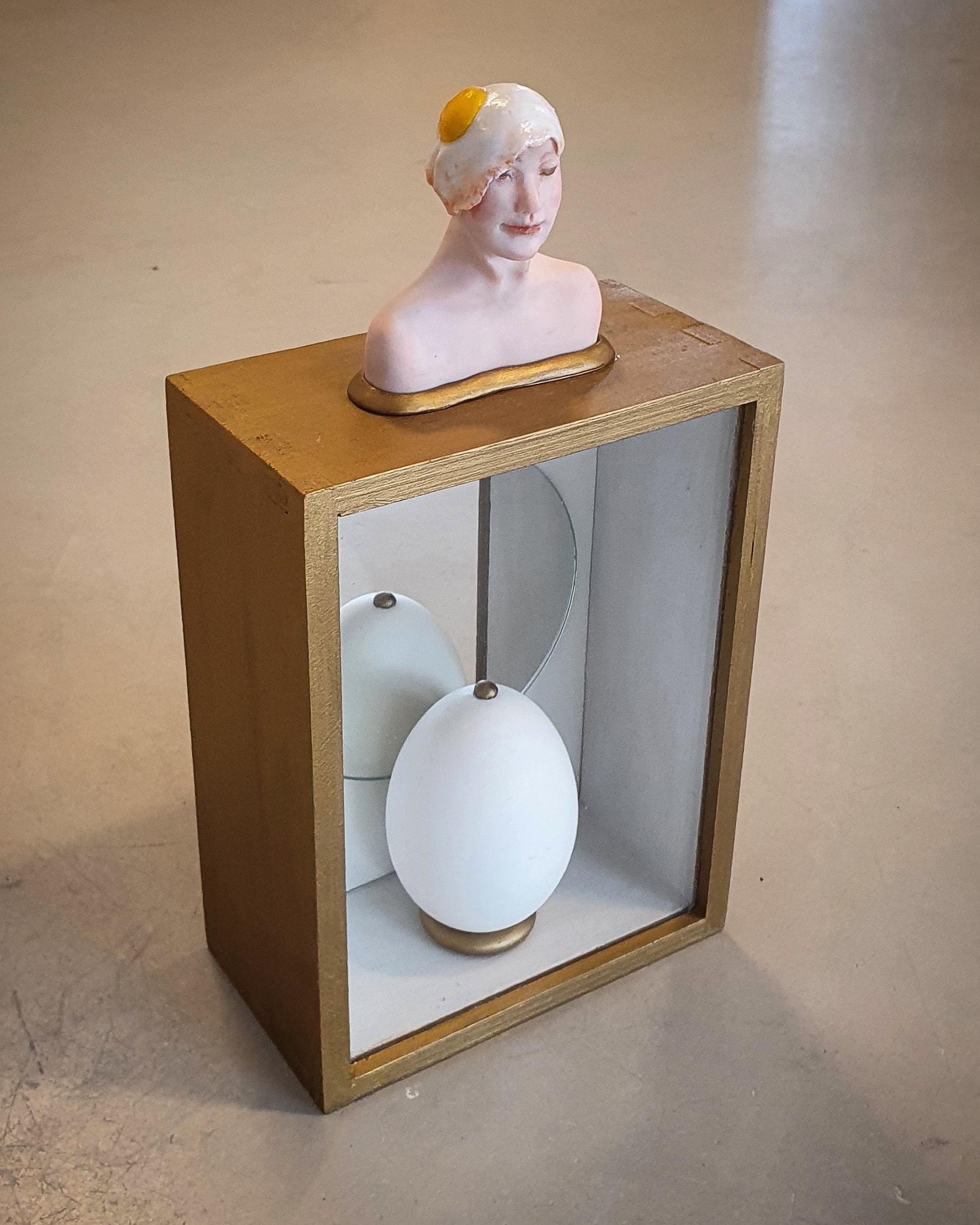 Kunst: Spiegel-Ei van kunstenaar Saskia Hoeboer