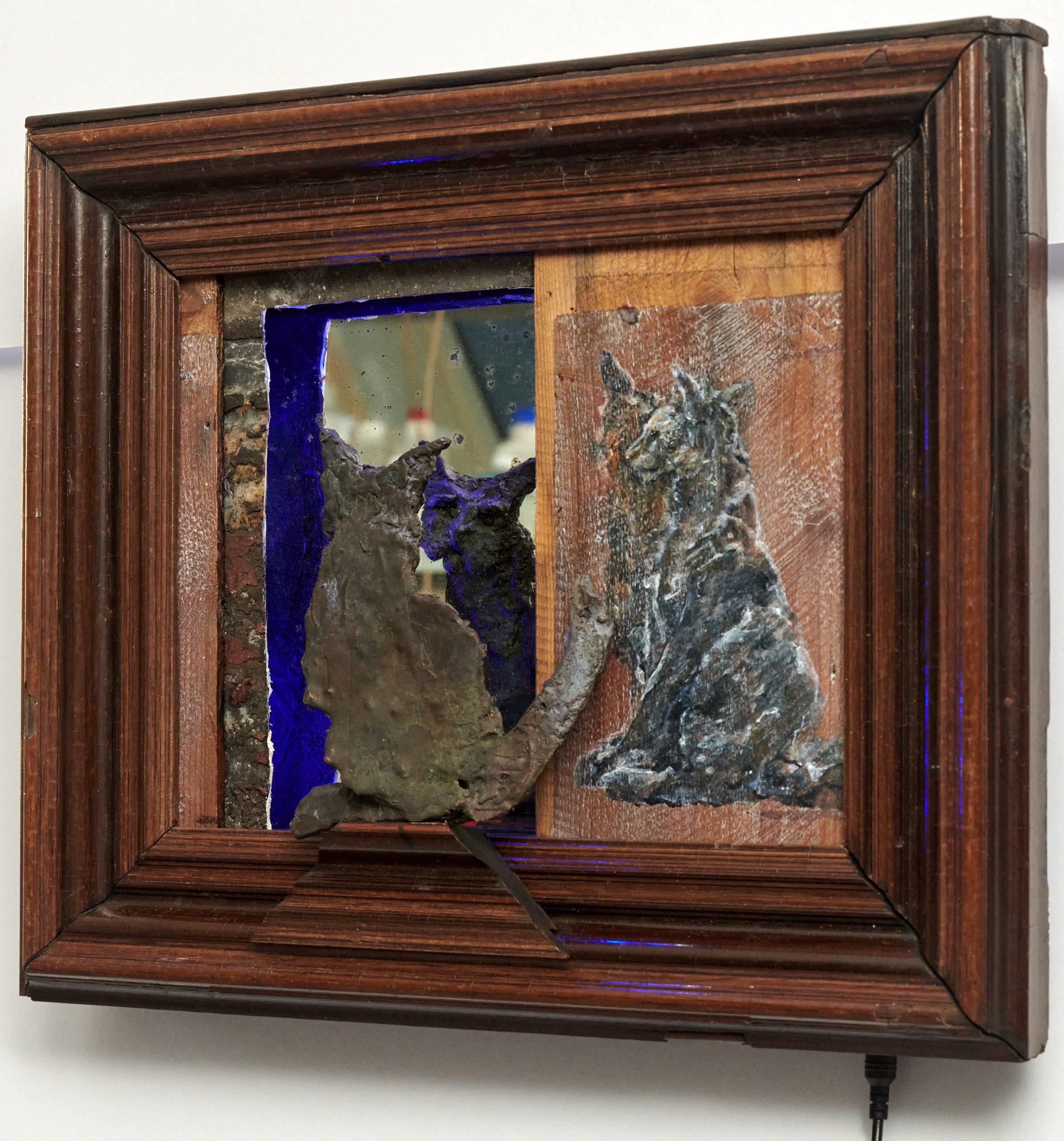 Kunst: Spiegelbeeld 1 van kunstenaar Edith Stoel