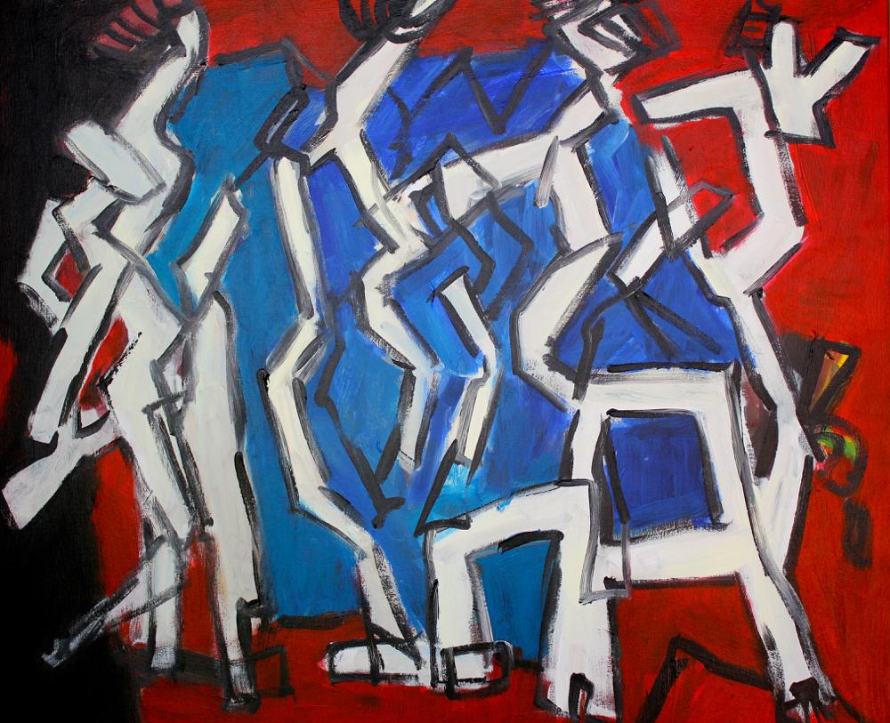 Kunst: Composition 6011 van kunstenaar Engelina Zandstra