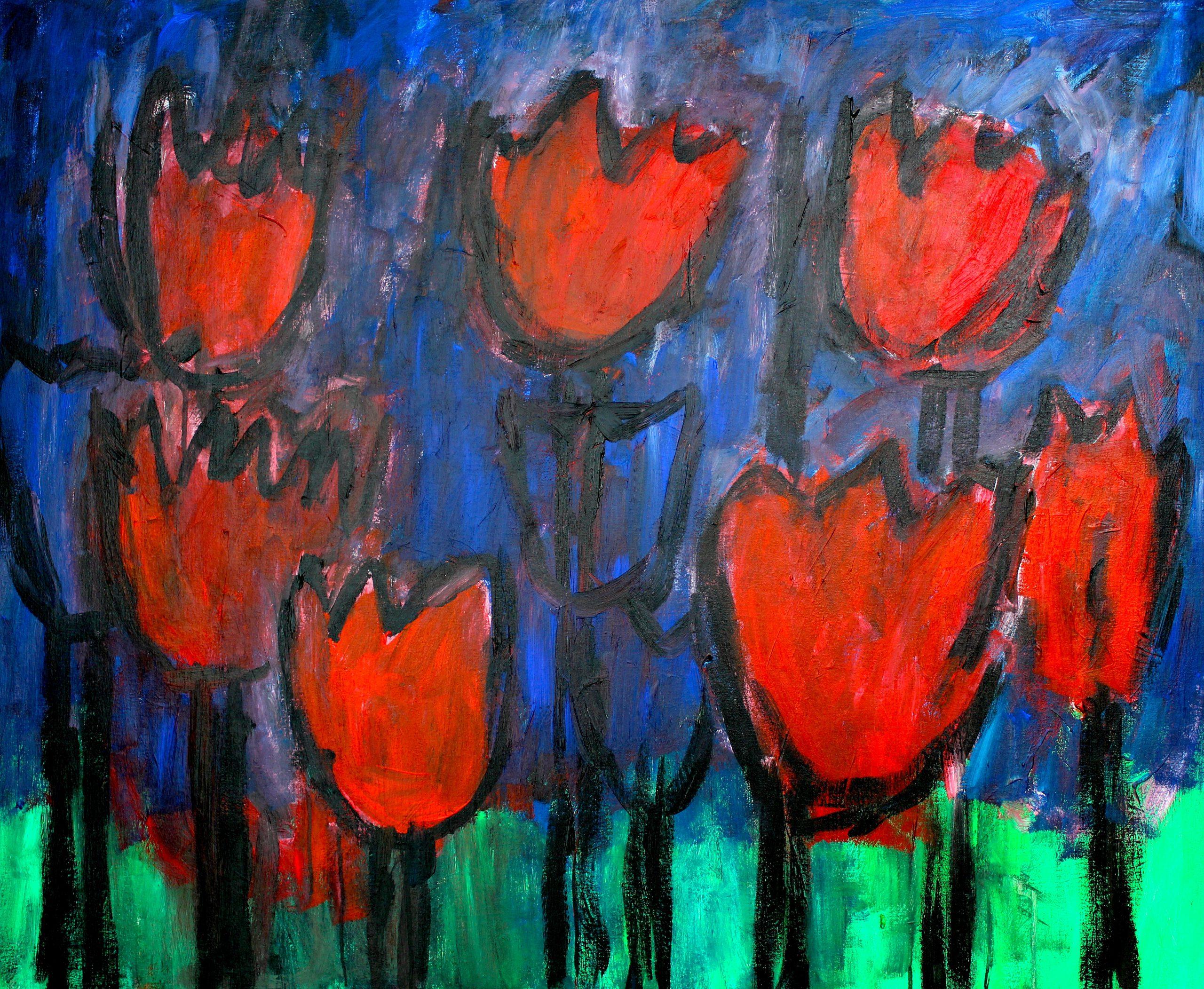 Kunst: Composition 6017 van kunstenaar Engelina Zandstra