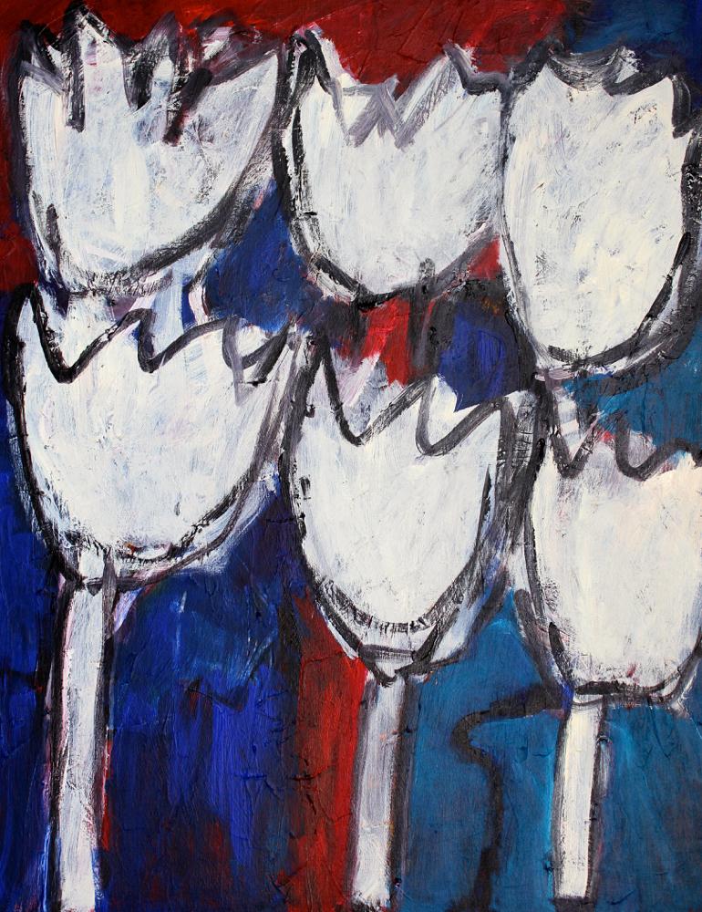 Kunst: Composition 6018 van kunstenaar Engelina Zandstra