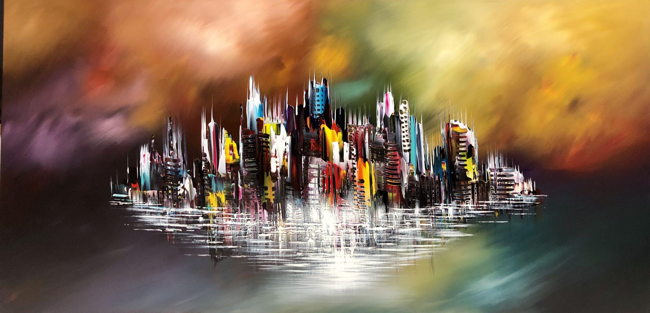 Kunst: Flying City van kunstenaar Gena n Gena