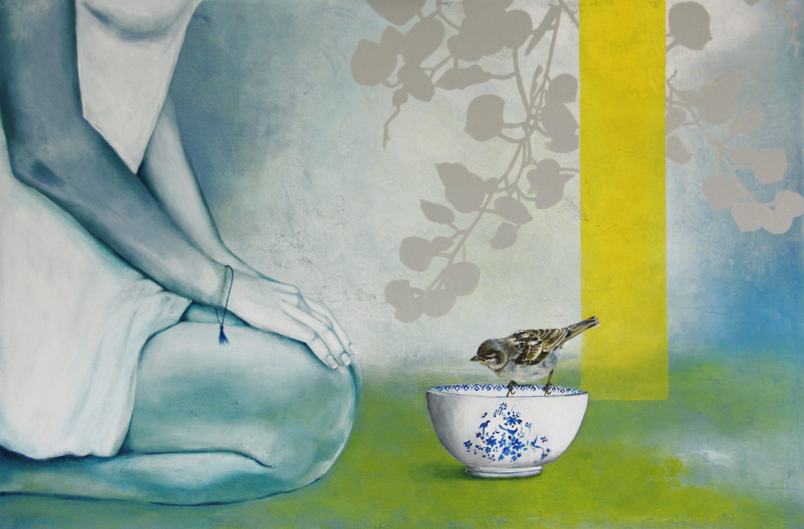 Kunst: Little lightness van kunstenaar Angelique-Mathijssen-van-den Bosch
