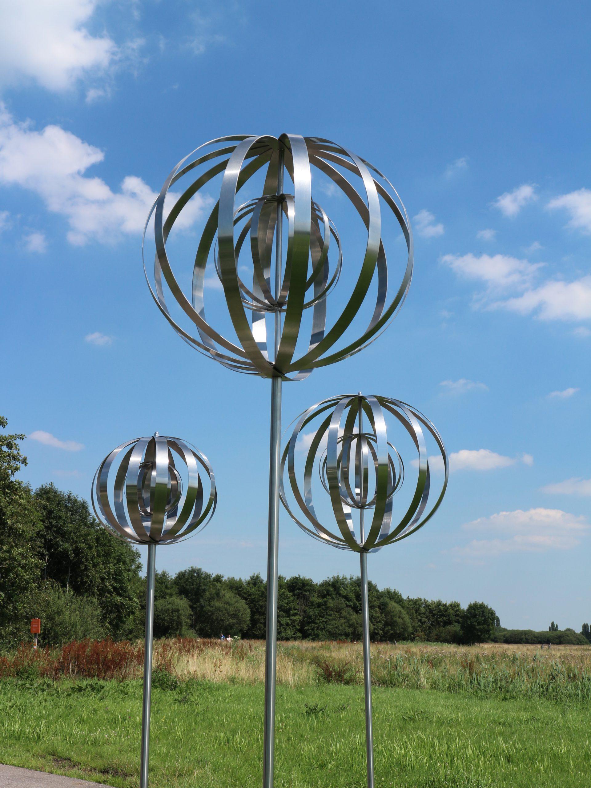 Kunst: Metal Forest 2 van kunstenaar Bert Verboon