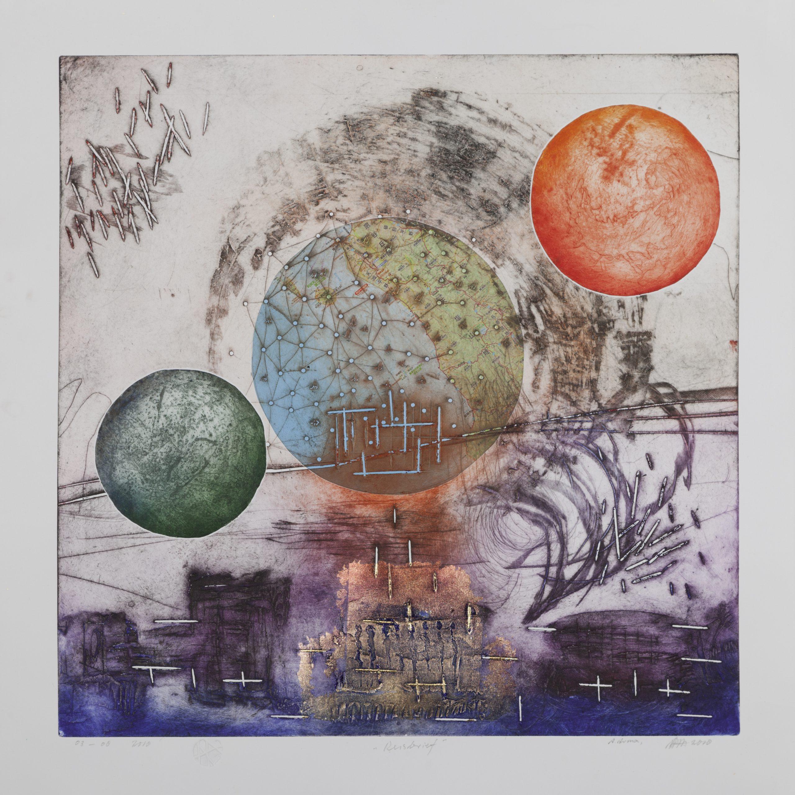 Kunst: Reisbrief van kunstenaar Ad Arma