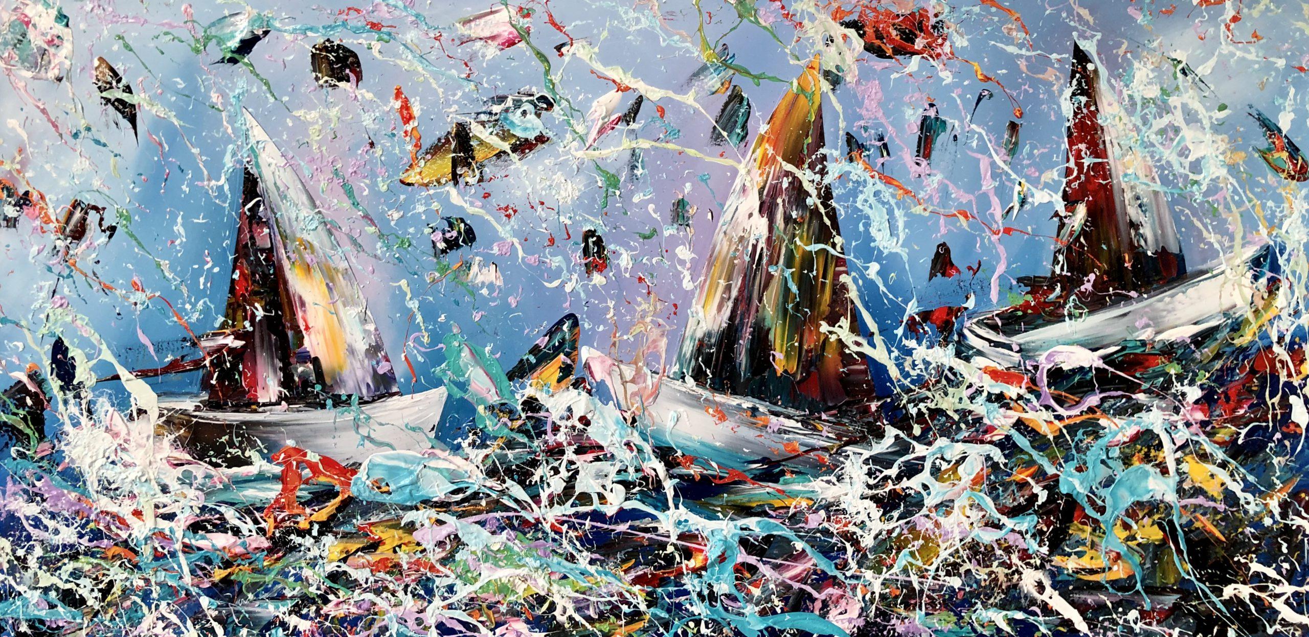 Kunst: Sailing van kunstenaar Gena n Gena