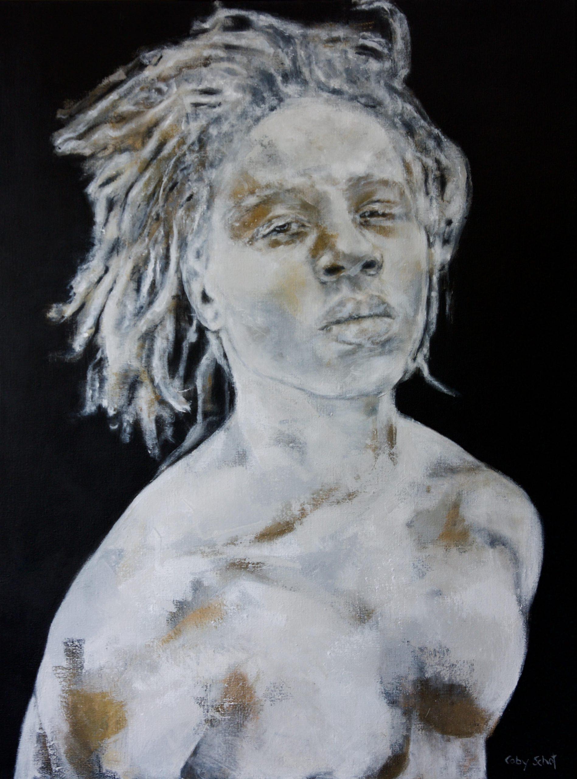 Kunst: Touched by gold van kunstenaar Coby Schot