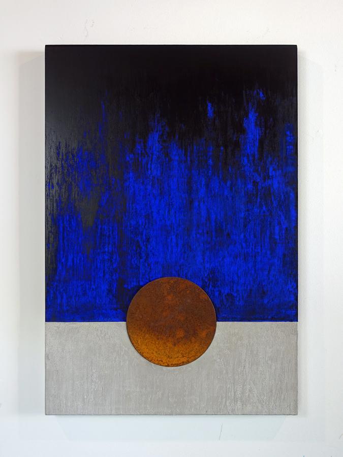 Kunst: Blauwe Nacht 1 van kunstenaar Geeske van de Molengraft