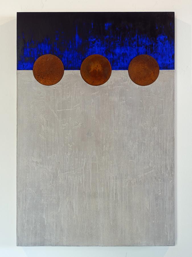 Kunst: Blauwe Nacht 2 van kunstenaar Geeske van de Molengraft