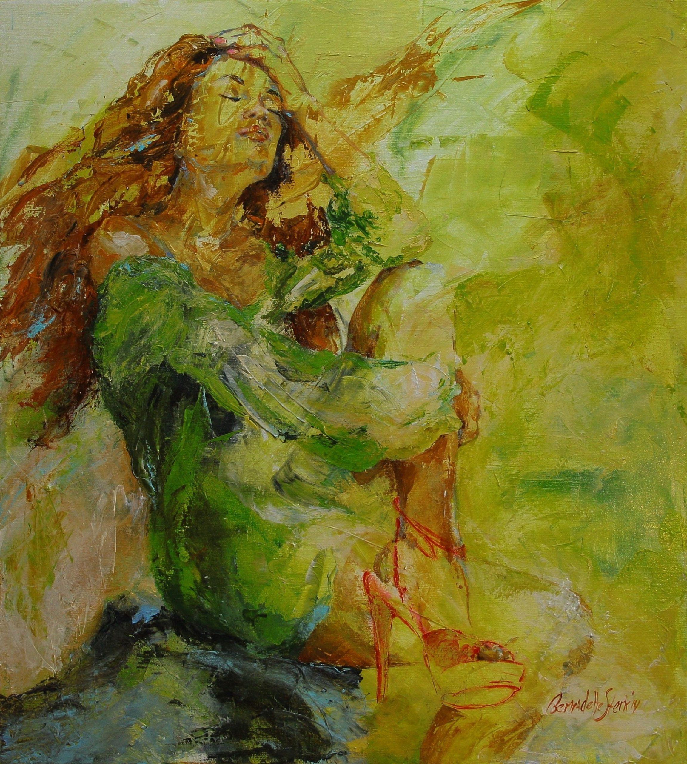 Kunst: Title Red van kunstenaar Bernadette Sterk