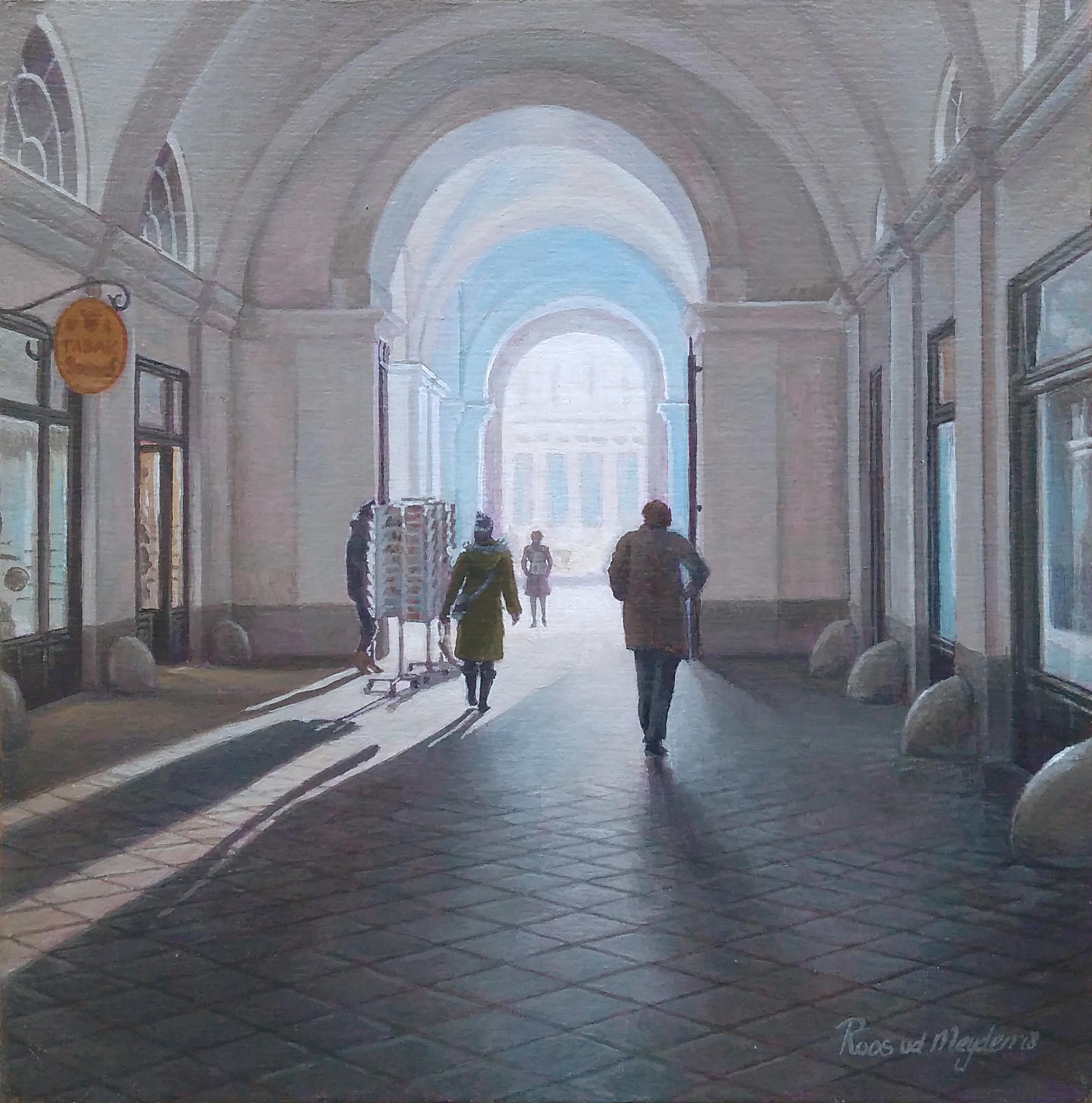 Kunst: Winterochtend in Wenen van kunstenaar Roos van der Meijden
