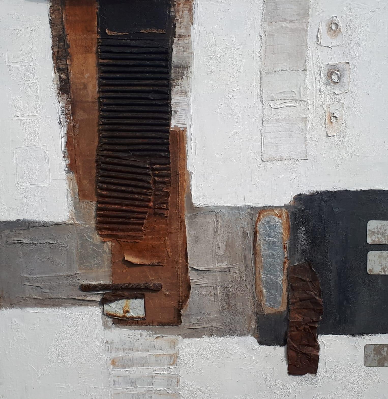 Kunst: Abstract 110-04 van kunstenaar Lydia van Domburgh