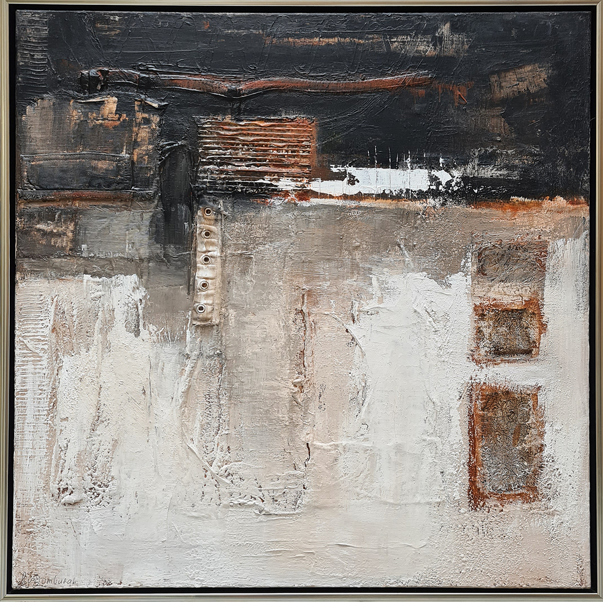 Kunst: Abstract 70-01 van kunstenaar Lydia van Domburgh