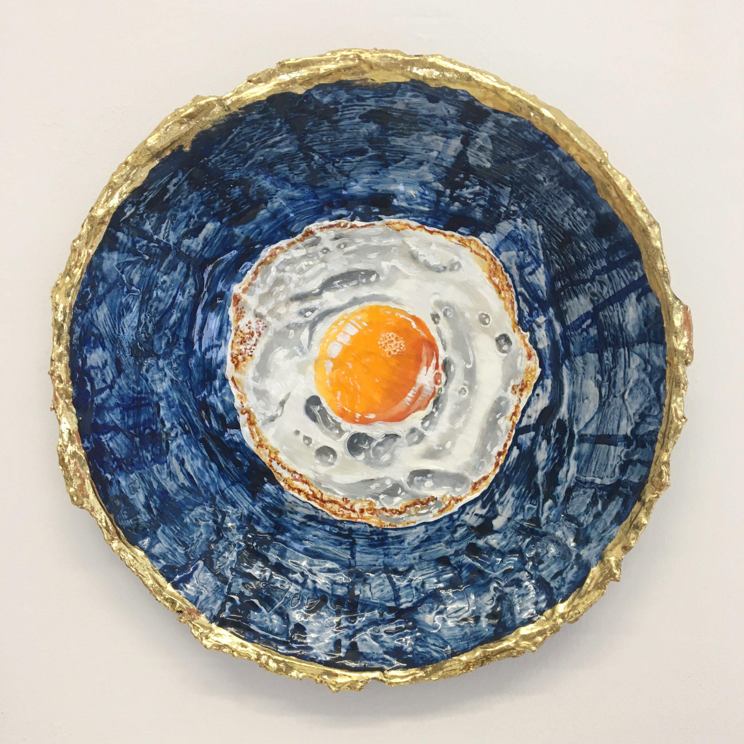 Kunst: Klein spiegelei 7 van kunstenaar Katinka Krijgsman