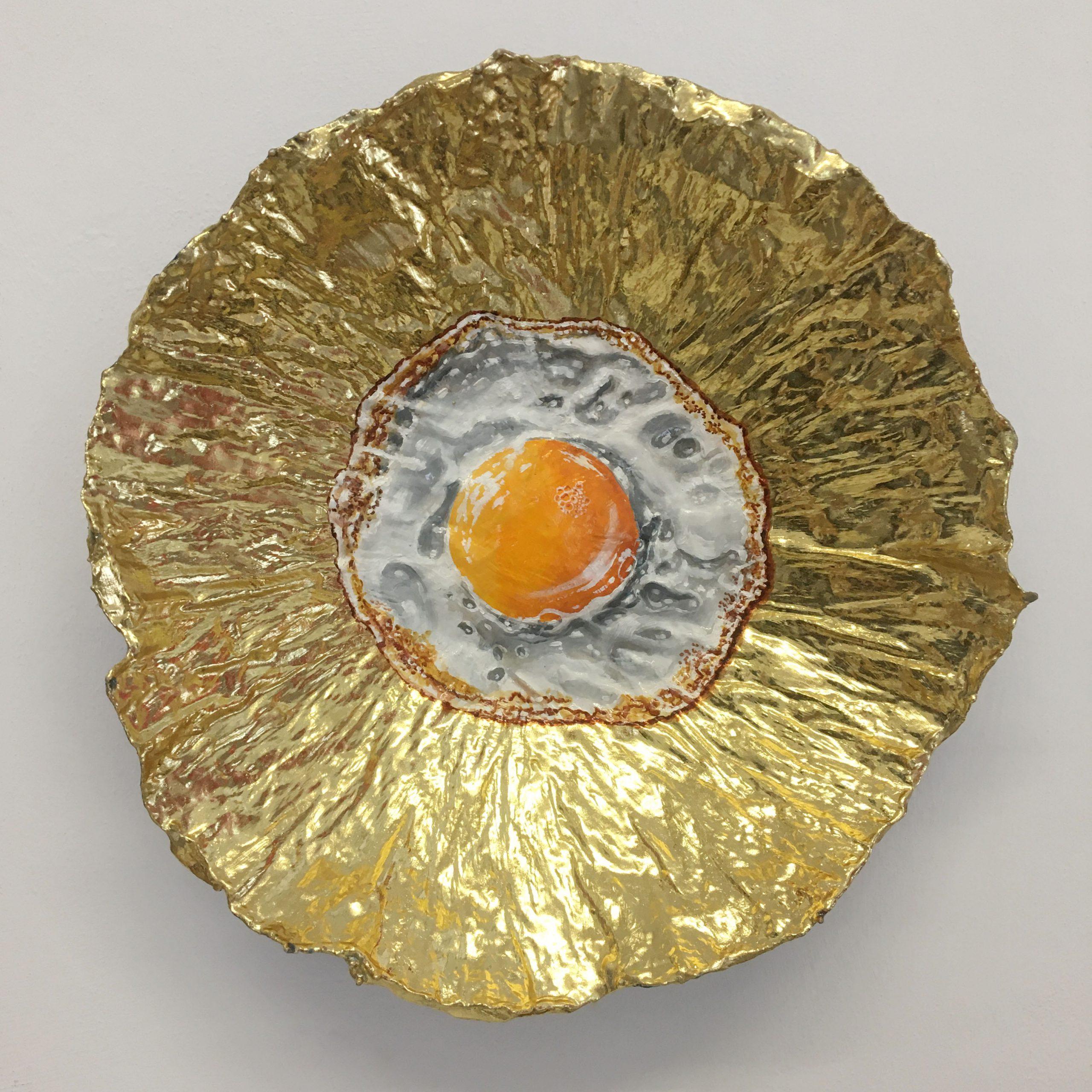 Kunst: Klein spiegelei 8 van kunstenaar Katinka Krijgsman