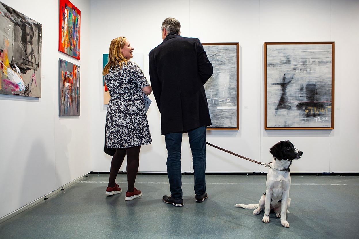 Sfeer Sille Gallery op kunstbeurs AAF oktober 2020