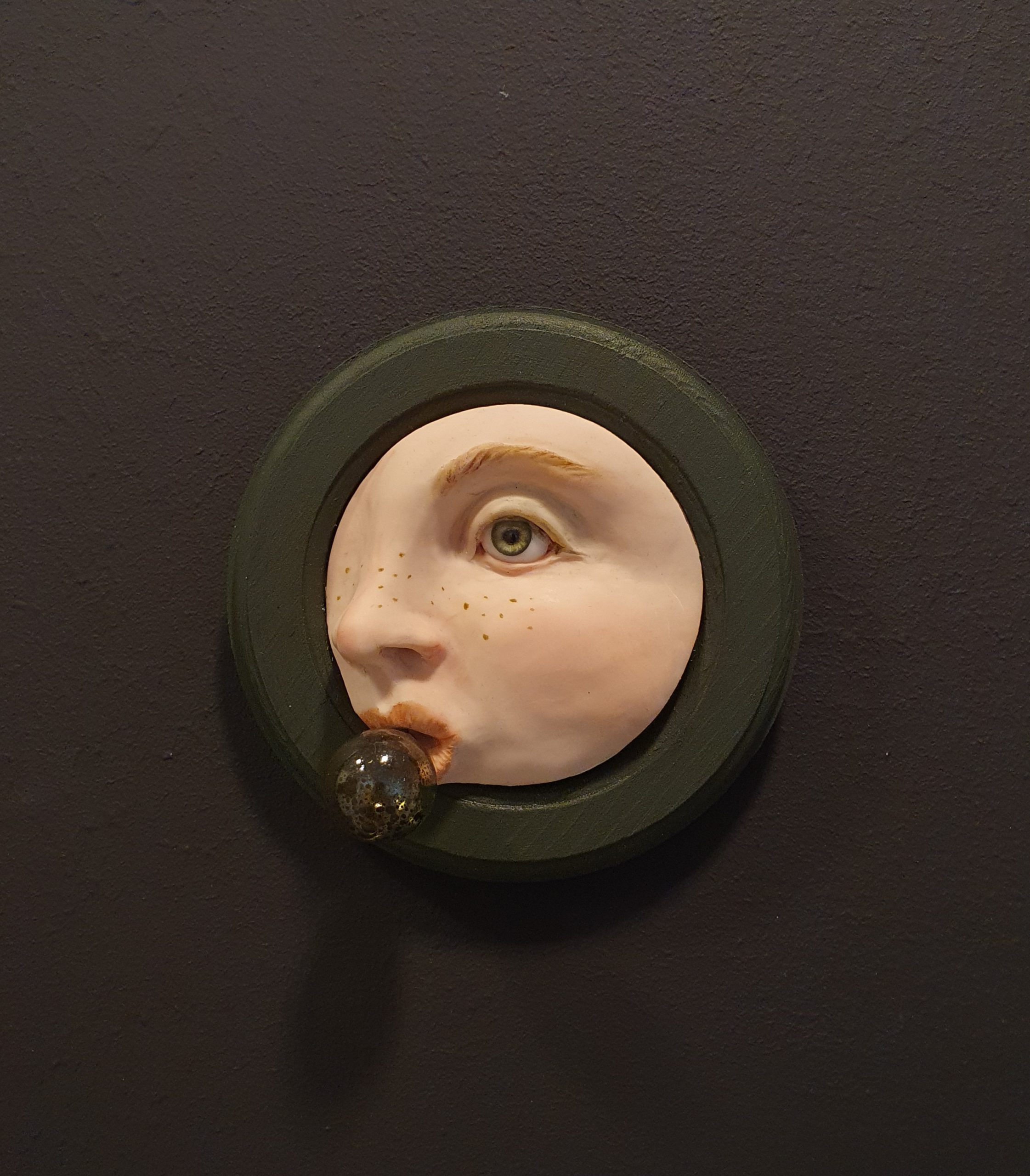 Kunst: Bellenblaas groen van kunstenaar Saskia Hoeboer