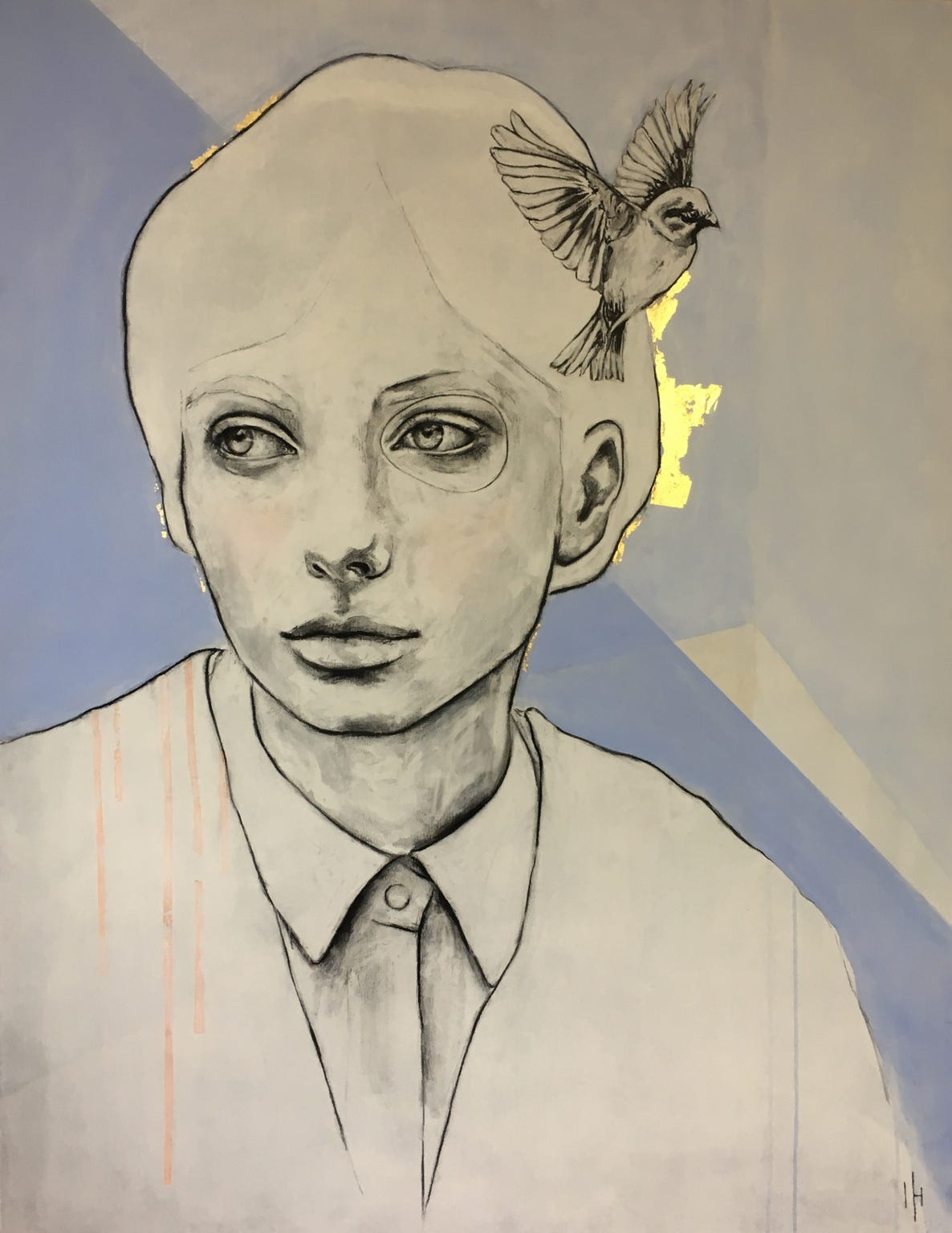 Kunst: Bright thoughts II van kunstenaar Greetje van den Heiligenberg