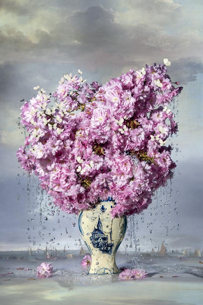 Kunst: Crying Blossom van kunstenaar Hans Withoos