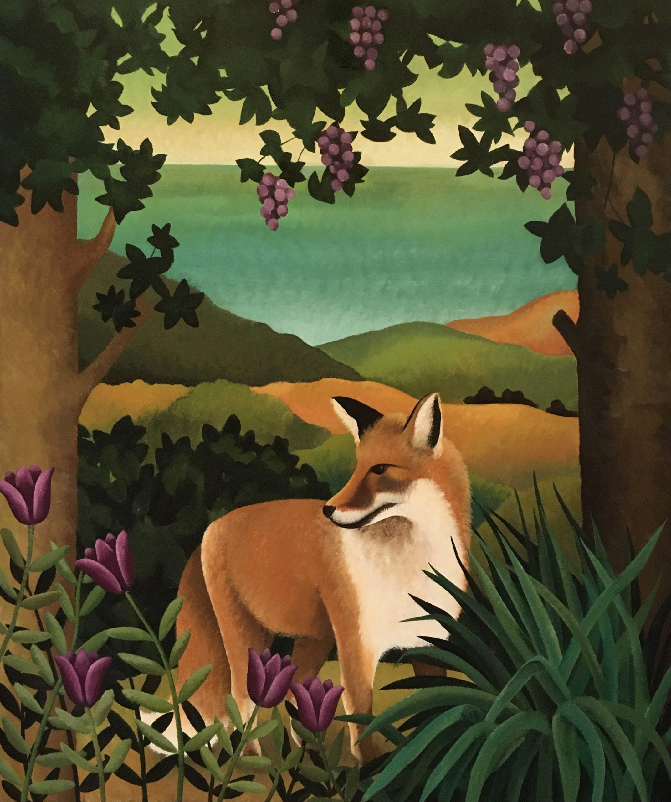 Kunst: De vos en de druiven van kunstenaar Yvonne Zomerdijk