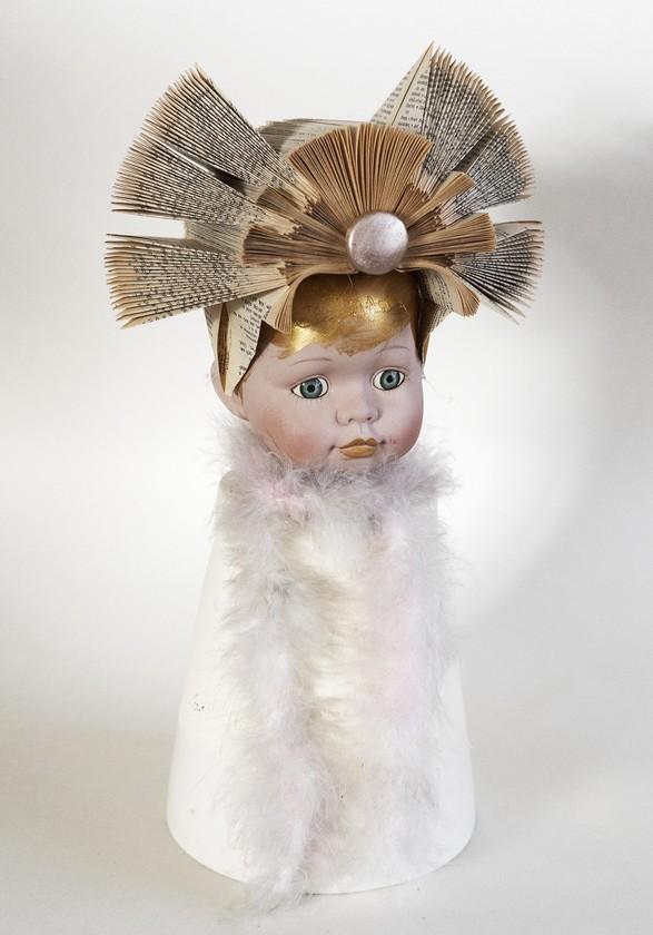 Kunst: Dutch girl pink scarf van kunstenaar Frida Badoux