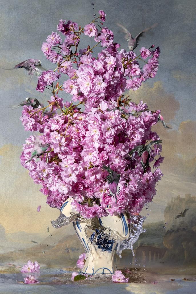 Kunst: Heavy Cherry Blossom van kunstenaar Hans Withoos