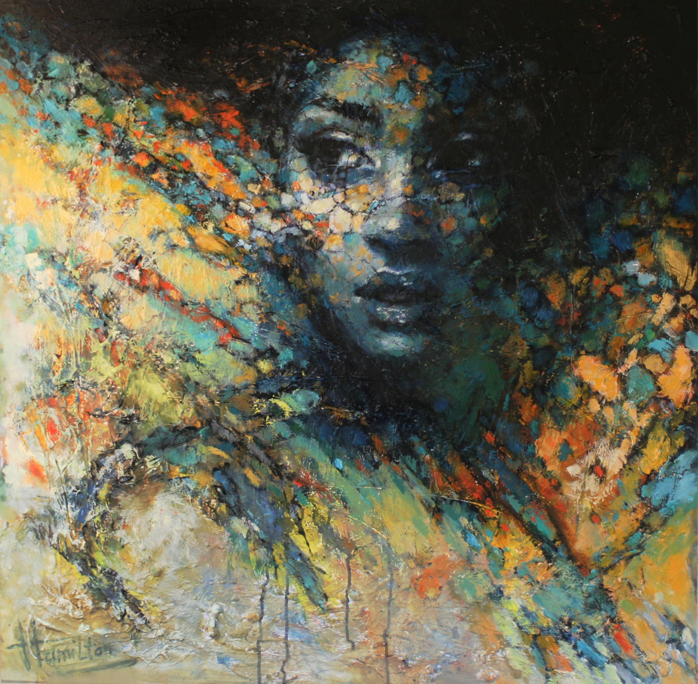 Kunst: Look at Me van kunstenaar Evelyn Hamilton