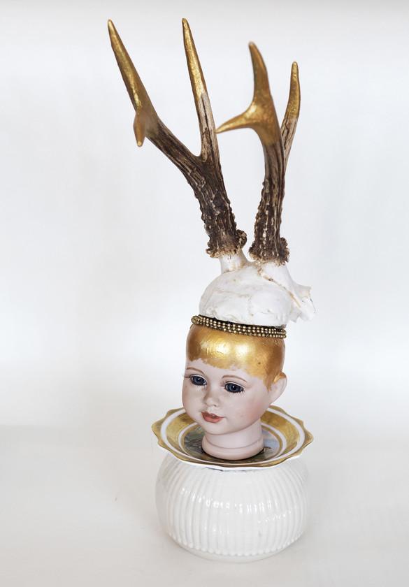 Kunst: Me and my horns van kunstenaar Frida Badoux