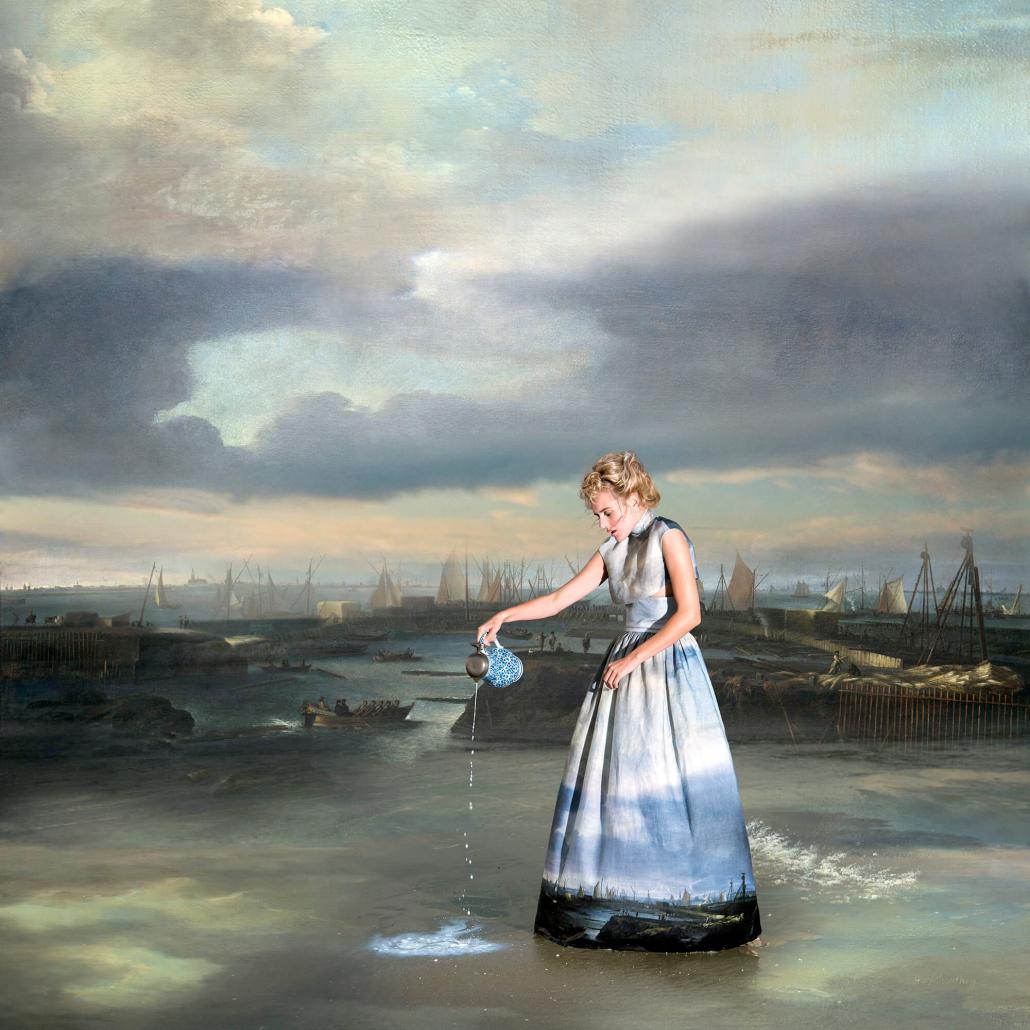 Kunst: Milkmaid at the Sea van kunstenaar Hans Withoos