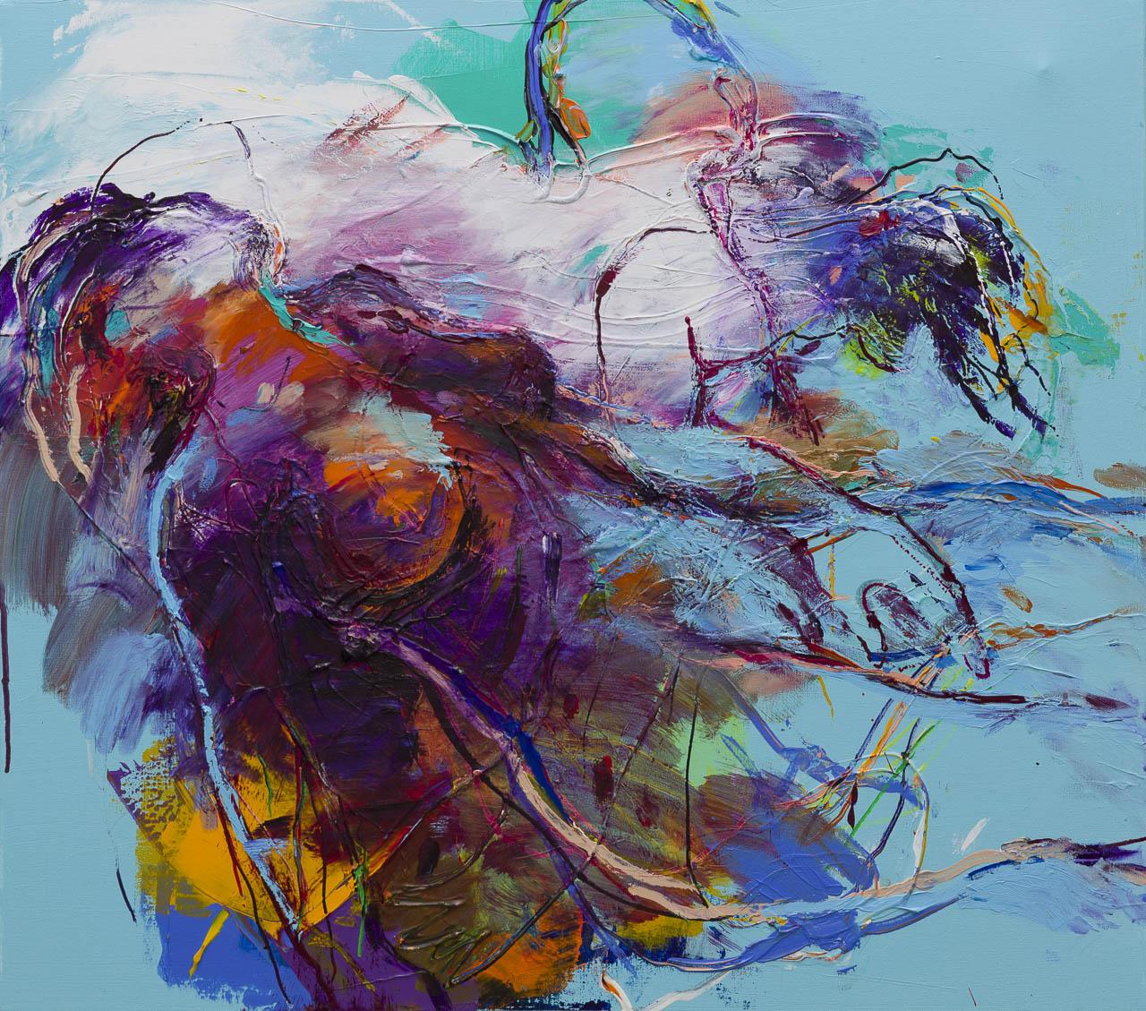 Kunst: Naakt 1 van kunstenaar Jan van Lokhorst