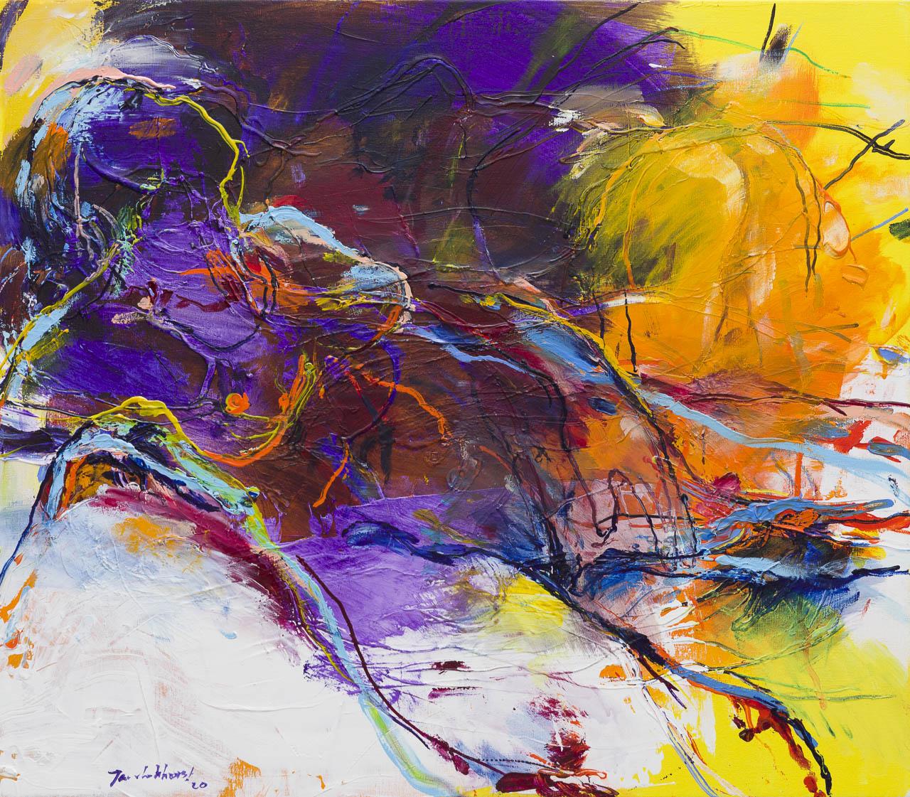 Kunst: Naakt 2 van kunstenaar Jan van Lokhorst