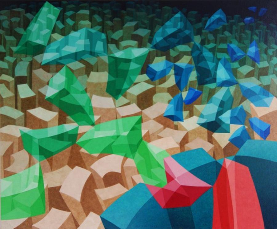 Kunst: ZT12-2003 van kunstenaar  Hans Klaui