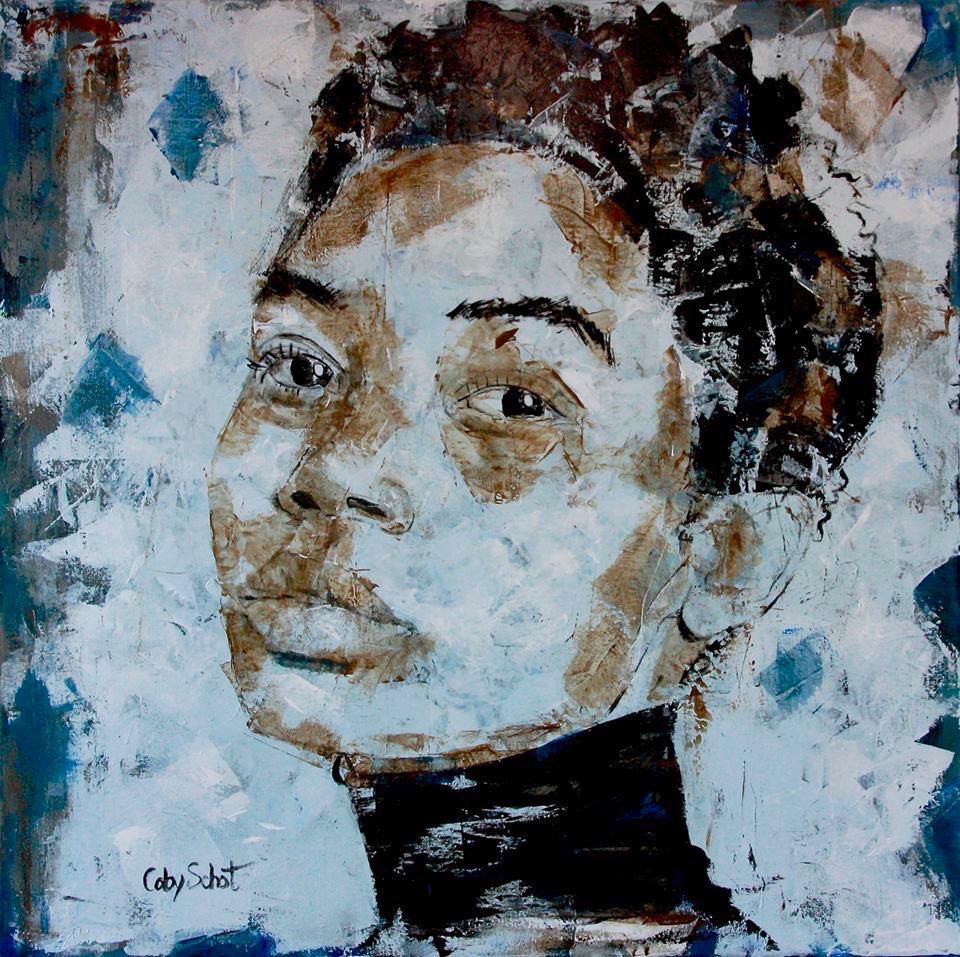 Kunst: Almost Blue van kunstenaar Coby Schot