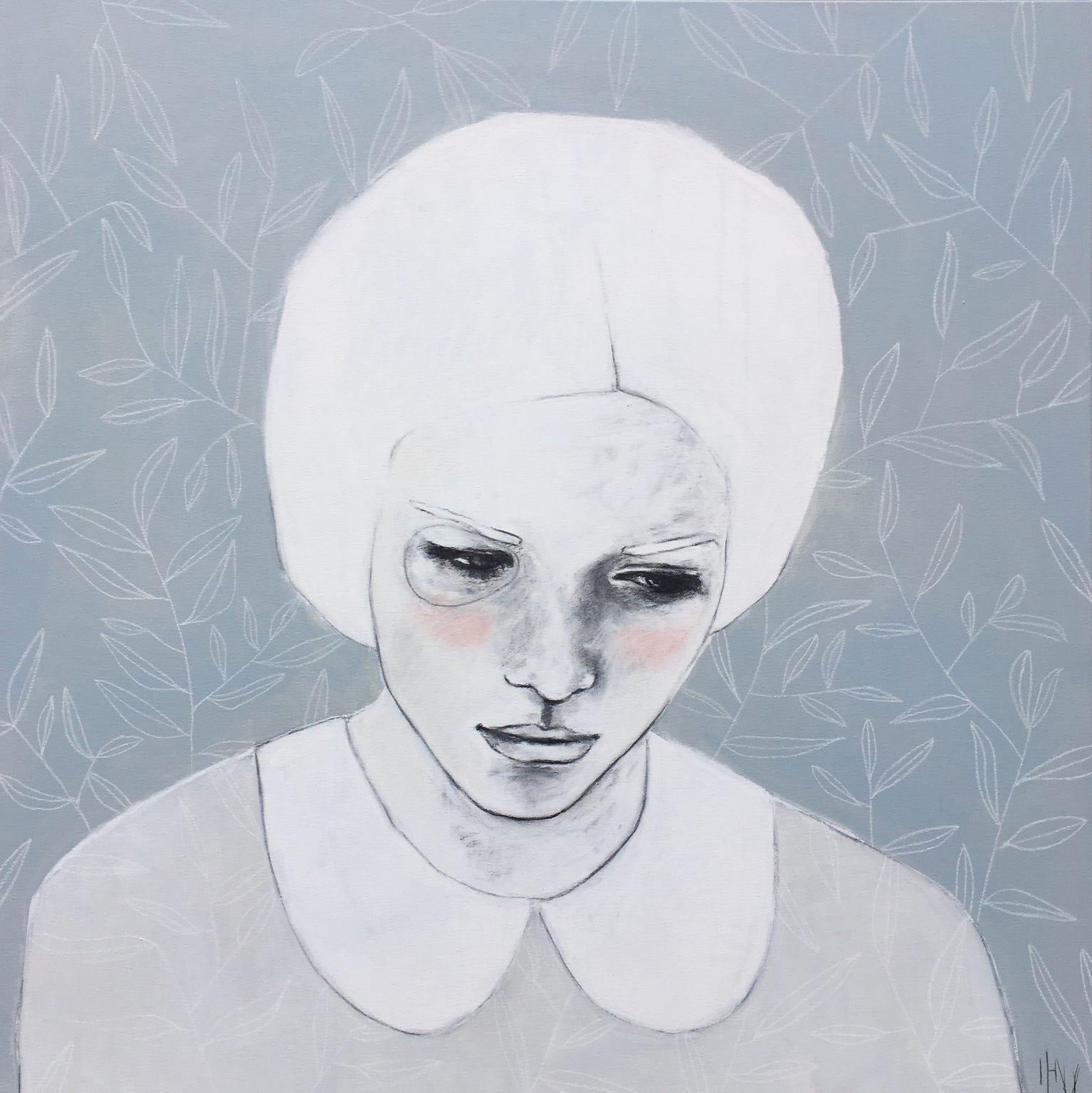 Kunst: Silent thoughts van kunstenaar Greetje van den Heiligenberg