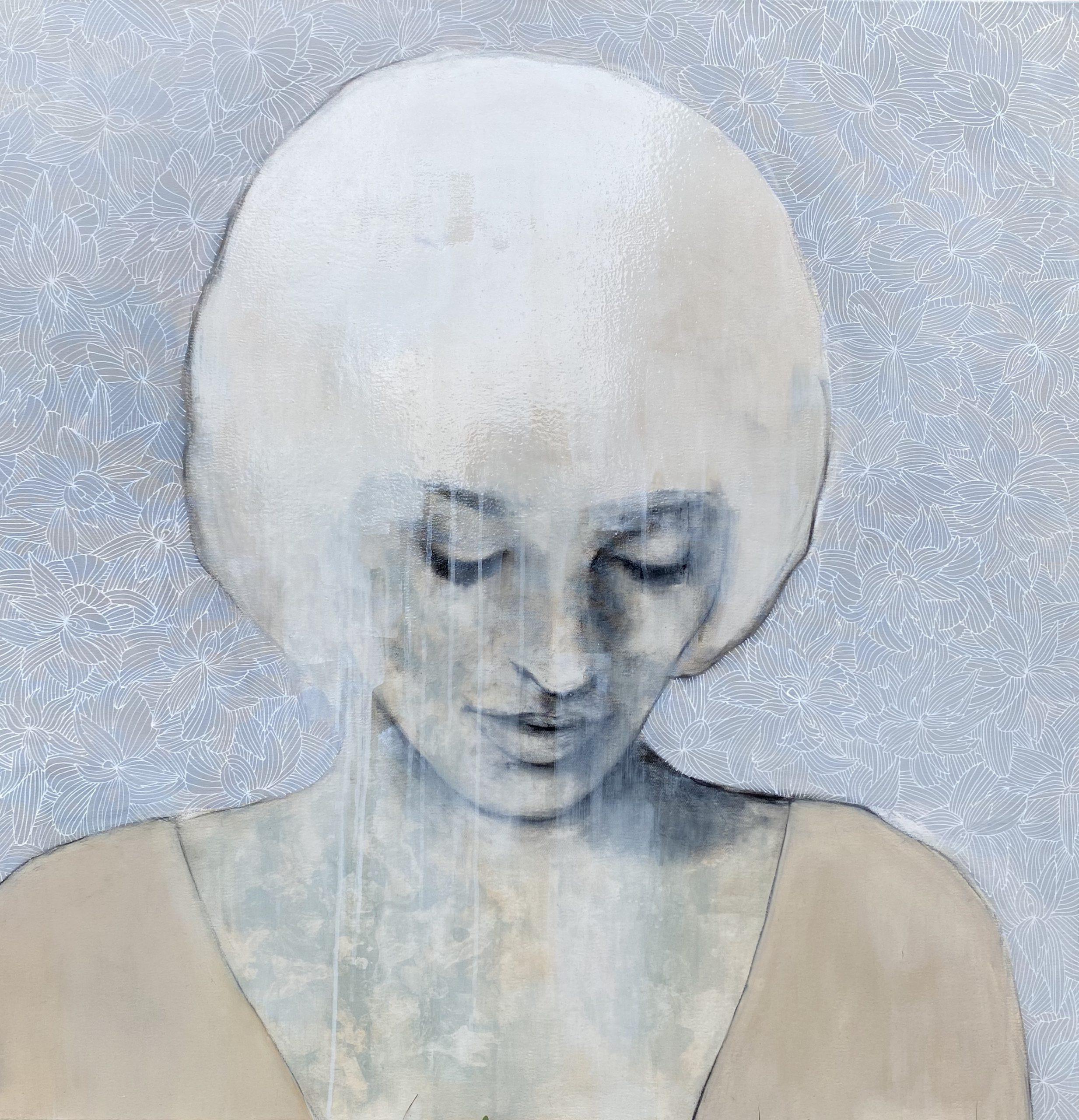 Kunst: Silent thoughts II van kunstenaar Greetje van den Heiligenberg