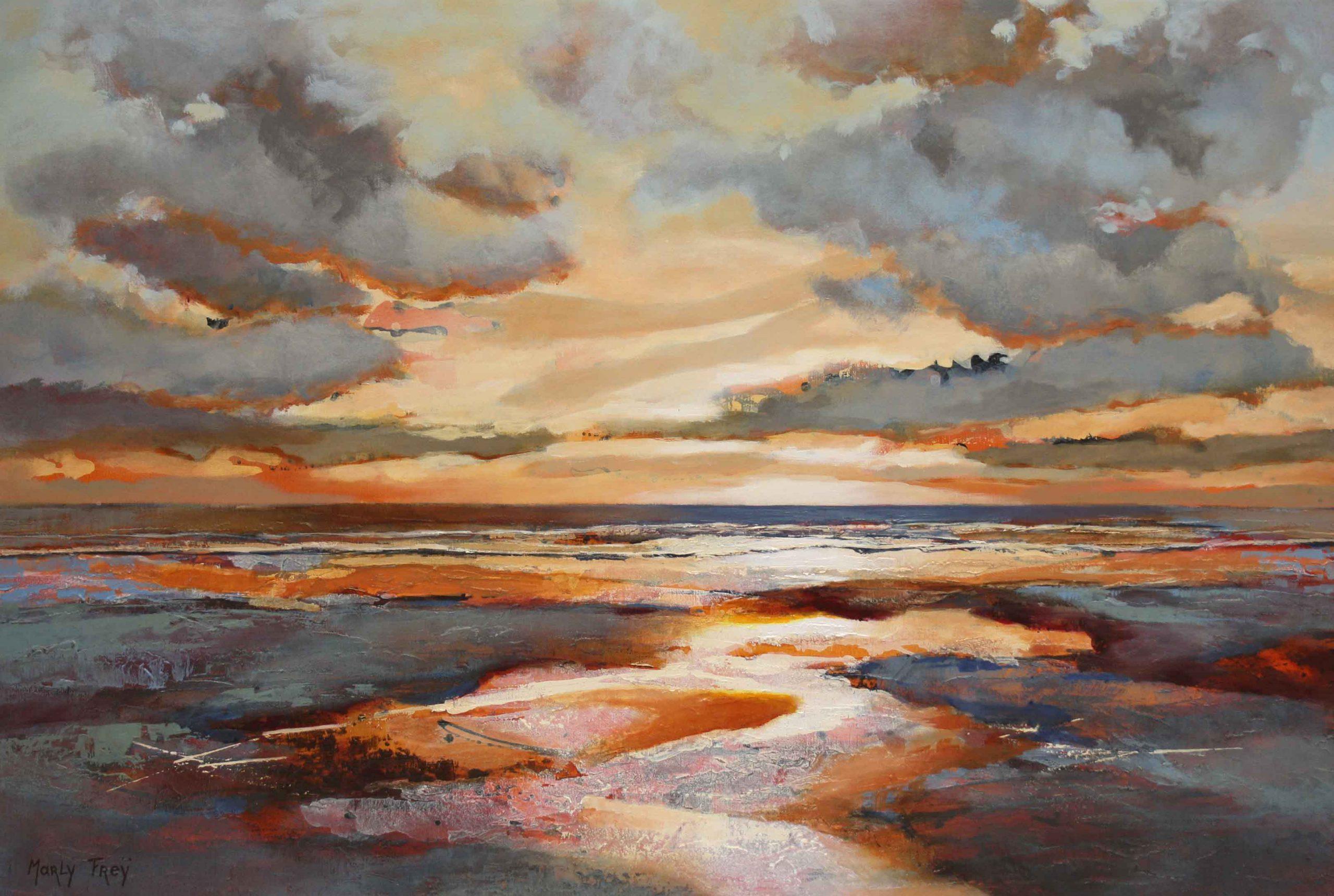 Kunst: Zonder titel 2008 van kunstenaar Marly Freij(vergezichten)